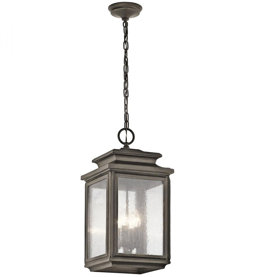 kichler 49505oz wiscombe park olde bronze outdoor hanging pendant light loading zoom - Bronze Pendant Light