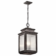 Kichler 49505WZC Wiscombe Park Traditional Weathered Zinc Finish 23  Tall Exterior Drop Lighting Fixture