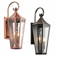Kichler 49513 Rochdale Traditional 9  Wide Outdoor Wall Mounted Lamp