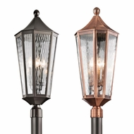 Kichler 49516 Rochdale Traditional 30.25  Tall Exterior Lighting Post Light