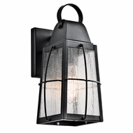 Kichler 49552BKT Tolerand Traditional Textured Black Finish 5.75  Wide Outdoor Light Sconce