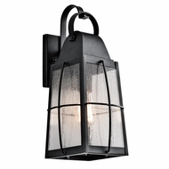 Kichler 49553BKT Tolerand Traditional Textured Black Finish 17.75  Tall Exterior Lighting Sconce