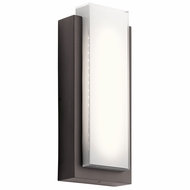 Kichler 49557AZLED Dahlia Modern Architectural Bronze LED Outdoor Medium Light Sconce