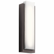 Kichler 49558AZLED Dahlia Contemporary Architectural Bronze LED Exterior Large Lighting Sconce