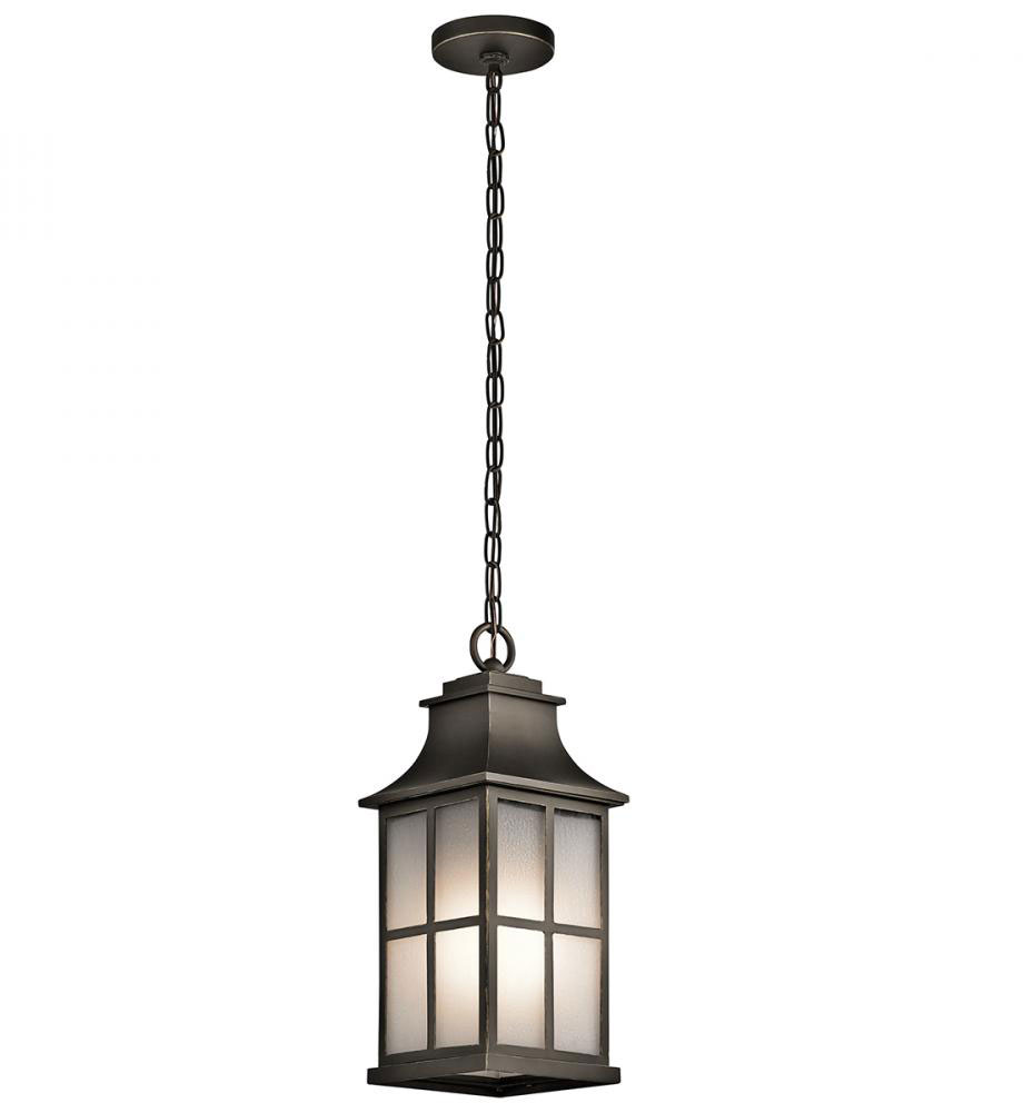 Kichler 49582OZ Pallerton Way Olde Bronze Outdoor Hanging Light Fixture.  Loading Zoom