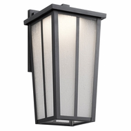 Kichler 49623BKTLED Amber Valley Textured Black LED Exterior Medium Wall Light Sconce