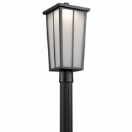 Kichler 49625BKTLED Amber Valley Textured Black LED Exterior Lighting Post Light