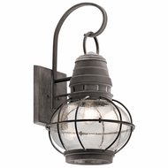 Kichler 49630WZC Bridge Point Nautical Weathered Zinc Outdoor Extra Large Wall Lamp