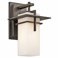 Kichler 49642OZFL Caterham Olde Bronze Fluorescent Outdoor Small Wall Lighting