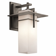 Kichler 49643OZFL Caterham Olde Bronze Fluorescent Exterior Medium Sconce Lighting