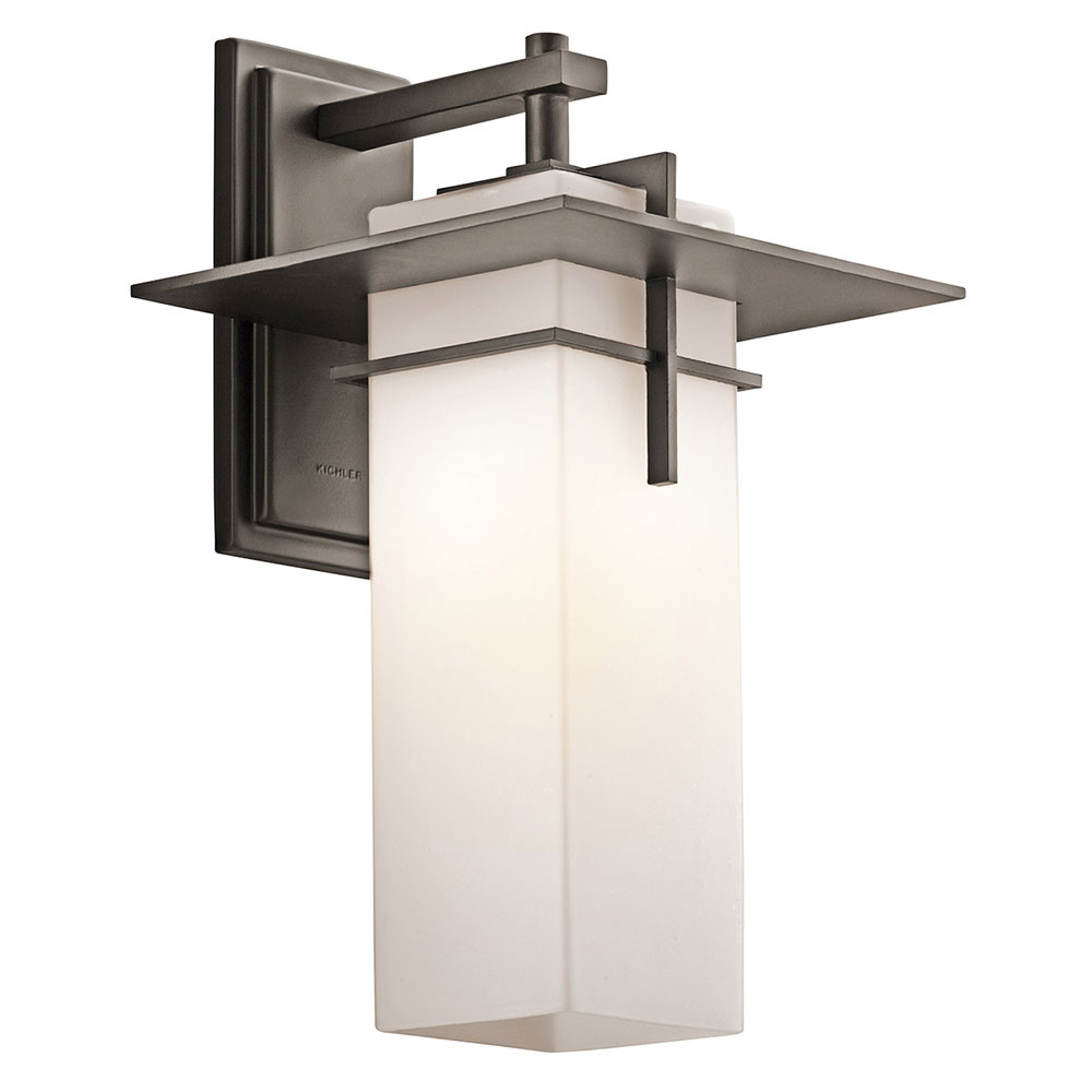 Kichler 49644OZFL Caterham Olde Bronze Fluorescent Outdoor Extra Large  Light Sconce. Loading Zoom