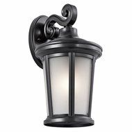 Kichler 49655BK Turlee Black Exterior Medium Wall Sconce Lighting