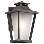 Kichler 49661WZC Sumner Court Weathered Zinc Outdoor Large Wall Mounted Lamp