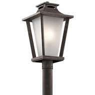 Kichler 49664WZC Sumner Court Weathered Zinc Exterior Post Light Fixture