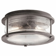 Kichler 49669WZC Ashland Bay Weathered Zinc Exterior Ceiling Light Fixture
