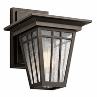 Kichler 49675OZ Woodhollow Lane Olde Bronze Outdoor Medium Wall Sconce Light