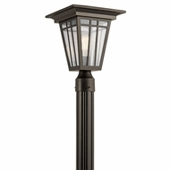 Kichler 49677OZ Woodhollow Lane Olde Bronze Outdoor Pole Lighting Fixture