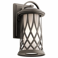 Kichler 49681OZ Pebble Lane Olde Bronze Outdoor Small Wall Lamp
