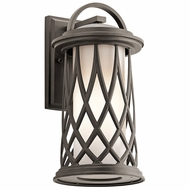 Kichler 49682OZ Pebble Lane Olde Bronze Exterior Medium Wall Lighting