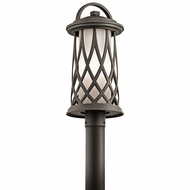 Kichler 49684OZ Pebble Lane Olde Bronze Exterior Post Lighting