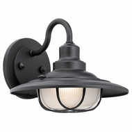 Kichler 49691BKT Harvest Ridge Textured Black Exterior Medium Light Sconce