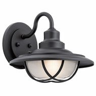 Kichler 49692BKT Harvest Ridge Textured Black Outdoor Large Lighting Sconce
