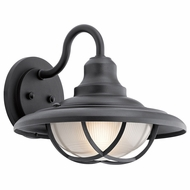 Kichler 49693BKT Harvest Ridge Textured Black Exterior Extra Large Lamp Sconce