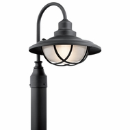 Kichler 49694BKT Harvest Ridge Textured Black Outdoor Post Lamp
