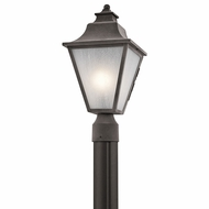 Kichler 49705WZC Northview Weathered Zinc Outdoor Lamp Post Light