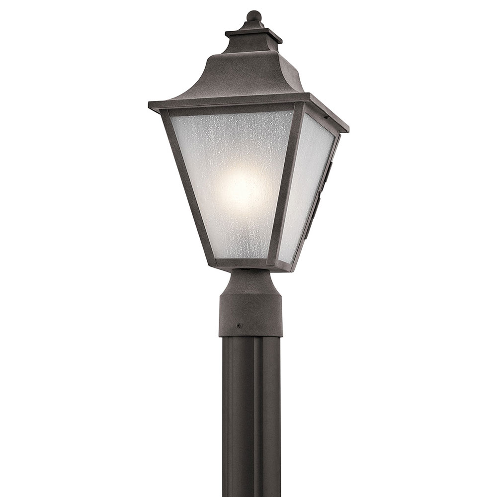 Kichler 49705WZC Northview Weathered Zinc Outdoor Lamp Post Light ...