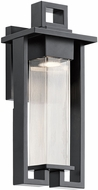Kichler 49706BK Chlebo Contemporary Black Halogen Outdoor Wall Lamp