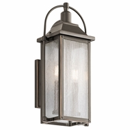 Kichler 49714OZ Harbor Row Olde Bronze Outdoor Small Wall Lighting Fixture