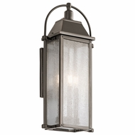 Kichler 49715OZ Harbor Row Olde Bronze Exterior Medium Wall Light Sconce