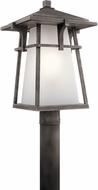 Kichler 49724WZC Beckett Weathered Zinc Exterior Post Light Fixture