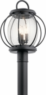 Kichler 49730BKT Vandalia Textured Black Outdoor Lamp Post Light