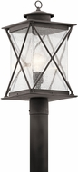 Kichler 49746WZC Argyle Weathered Zinc Exterior Post Light Fixture