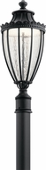 Kichler 49756BKTLED Wakefield Textured Black LED Outdoor Post Light