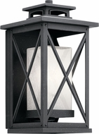 Kichler 49771DBK Piedmont Distressed Black Exterior 8  Wall Sconce Light