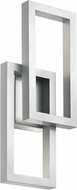 Kichler 49802PLLED Rettangolo Contemporary Platinum LED Outdoor 8.25  Wall Light Fixture