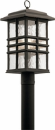 Kichler 49832OZ Beacon Square Olde Bronze Exterior Lamp Post Light Fixture