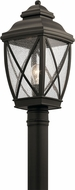 Kichler 49843OZ Tangier Traditional Olde Bronze Outdoor Post Light Fixture