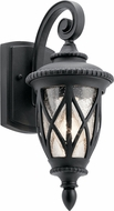 Kichler 49846BKT Admirals Cove Traditional Textured Black Outdoor 6.25  Lamp Sconce