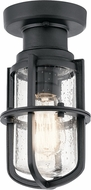 Kichler 49861BKTLED Suri Contemporary Textured Black Exterior Flush Lighting