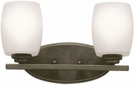 Kichler 5097OZSFL Eileen Contemporary Olde Bronze Fluorescent 2-Light Bath Lighting Fixture