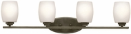 Kichler 5099OZSFL Eileen Contemporary Olde Bronze Fluorescent 4-Light Bathroom Lighting Sconce