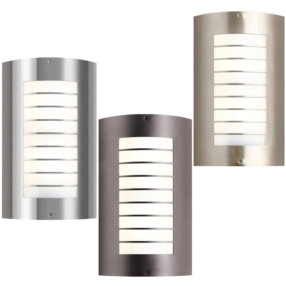 Kichler 6048 newport modern tall outdoor sconce for Modern exterior lighting fixtures