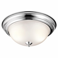 Kichler 8112CH Chrome Finish 13.25  Wide Flush Lighting