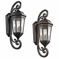 Kichler 9081 Courtyard Traditional 15  Wide Exterior Light Sconce