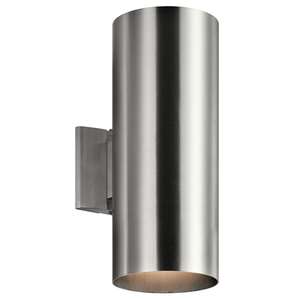 Kichler 9246BA Contemporary Brushed Aluminum Outdoor Lighting Sconce. Loading zoom  sc 1 st  Affordable L&s : contemporary outdoor sconce - www.canuckmediamonitor.org