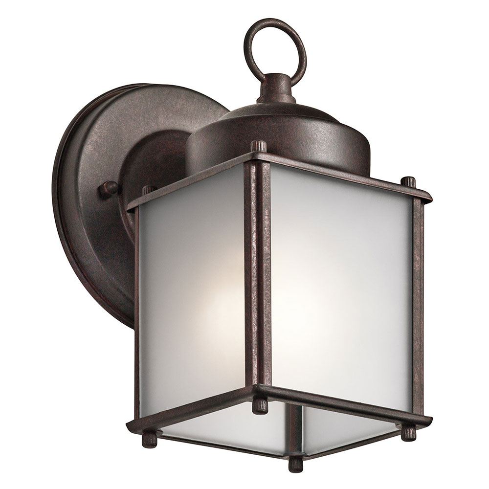 Kichler Exterior Wall Sconces : Kichler 9611TZS Tannery Bronze Outdoor Lighting Wall Sconce - KIC-9611TZS